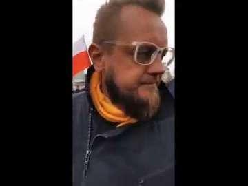 Demonstracja przedsiębiorców w Warszawie. Piesza w czasie epidemii.