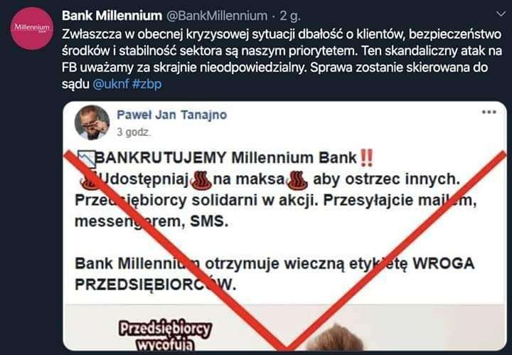 Bankrutujemy Millennium Bank.